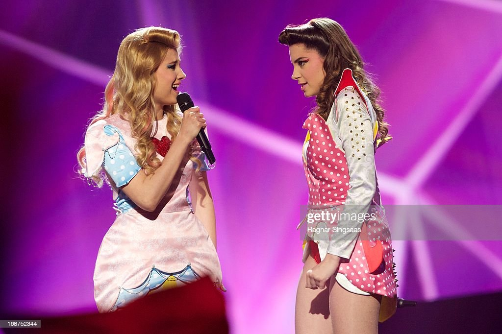 The band Moje 3 of Serbia perform on stage during the first semi final of the Eurovision Song Contest 2013 at Malmo Arena on May 14, 2013 in Malmo, Sweden.