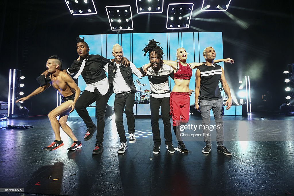 The band No Doubt performs at Gibson Amphitheatre on November 30, 2012 in Universal City, California.