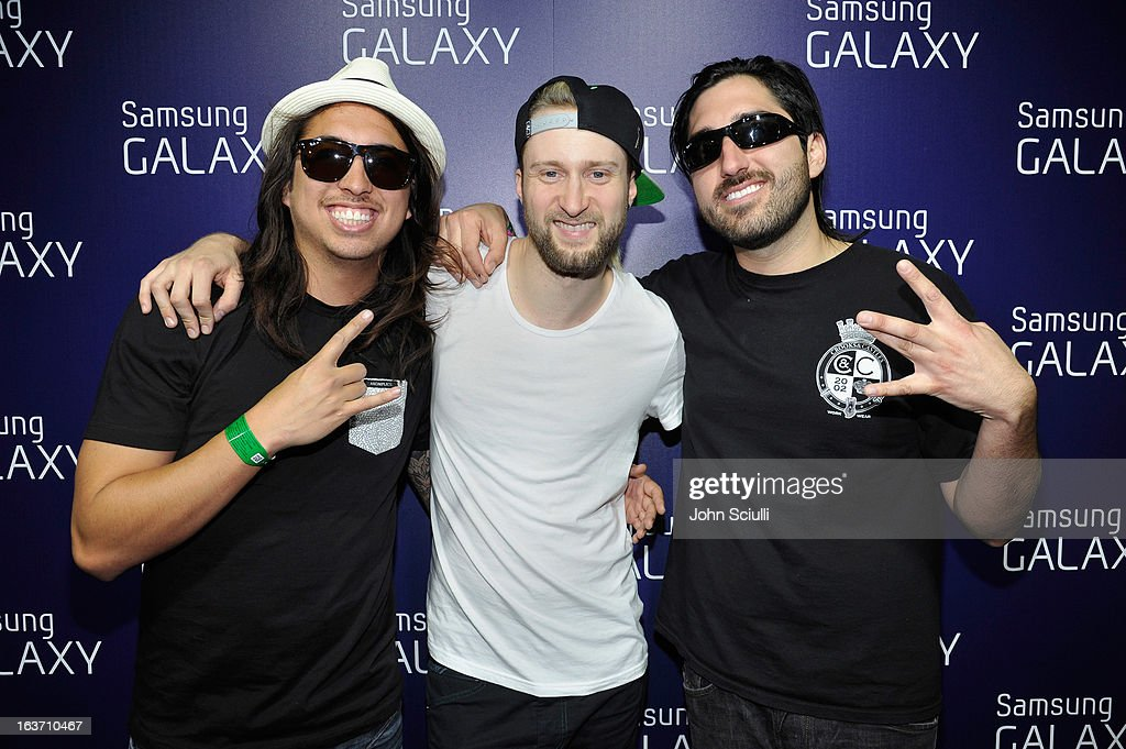 The band Of Mice & Men attends The Universal Music Group cocktail party hosted by Samsung Galaxy Club at SXSW on March 14, 2013 in Austin, Texas.