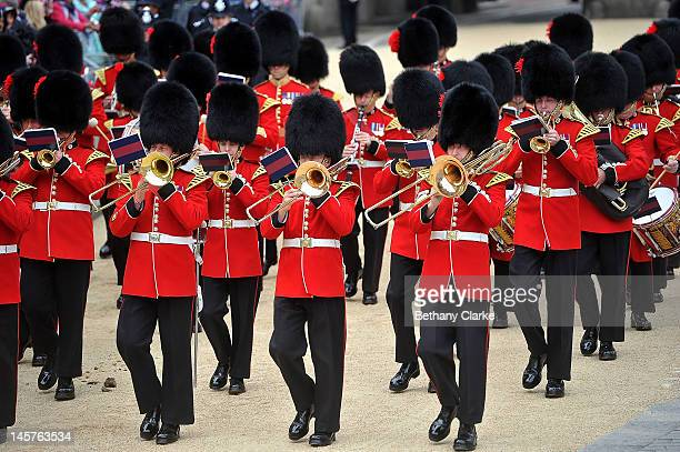 The band of the Grenadier Guards march down Whitehall on June 5 2012 in London England For only the second time in its history the UK celebrates the...
