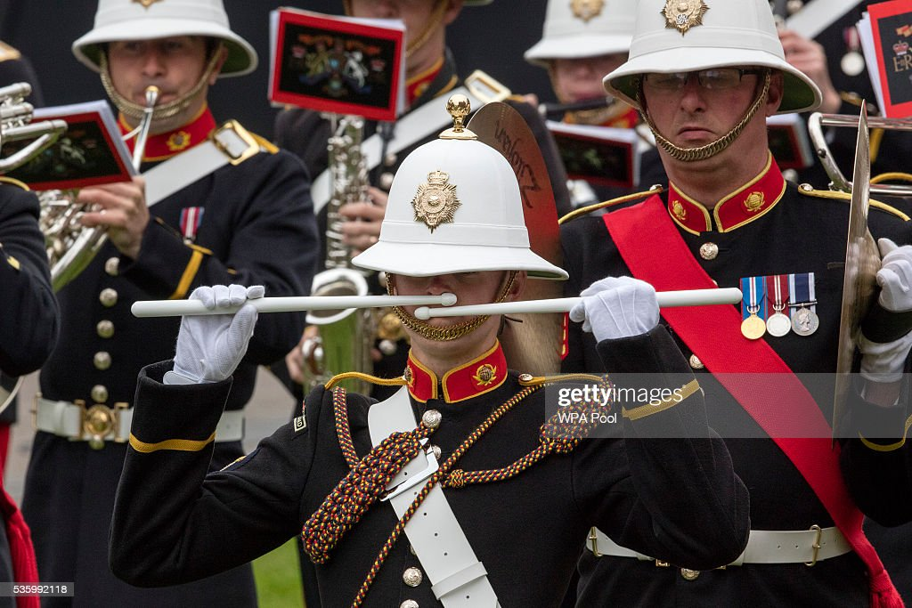 The band of the Royal Marines play at the commemorations of the 100th anniversary of the Battle of Jutland at St Magnus Cathedral on May 31, 2016 in Kirkwall, Scotland. The event marks the centenary of the largest naval battle of World War One where more than 6,000 Britons and 2,500 Germans died in the Battle of Jutland fought near the coast of Denmark on 31 May and 1 June 1916.
