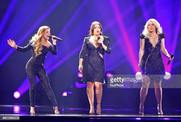 The band O'G3NE from The Netherlands perform with the song quotLights and Shadowsquotduring the rehearsal for the Grand Final of the Eurovision Song...