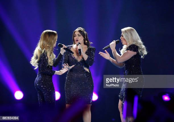 The band O'G3NE from The Netherlands perform with the song quotLights and Shadowsquotduring the Grand Final of the Eurovision Song Contest in Kiev...