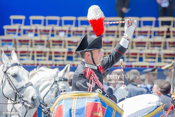 IMPERIALI ROME ROMA ITALY The band parade in front of the officials during the 'Festa della Repubblica' or the Italian National Day which is...
