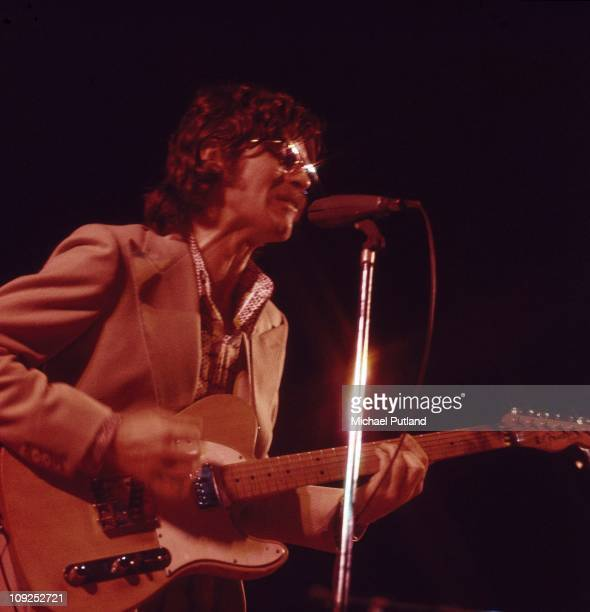 The Band perform on stage at the Royal Albert Hall London 3rd June 1971 Robbie Robertson playing Fender Telecaster guitar