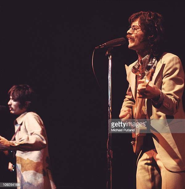 The Band perform on stage at the Royal Albert Hall London 3rd June 1971 Rick Danko Robbie Robertson