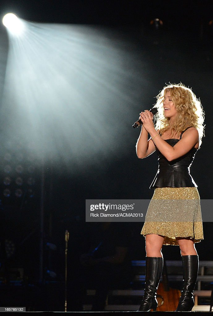 The Band Perry's Kimberly Perry performs at the ACM Party For A Cause Festival during the 48th Annual Academy of Country Music Awards at the Orleans Arena on April 5, 2013 in Las Vegas, Nevada.