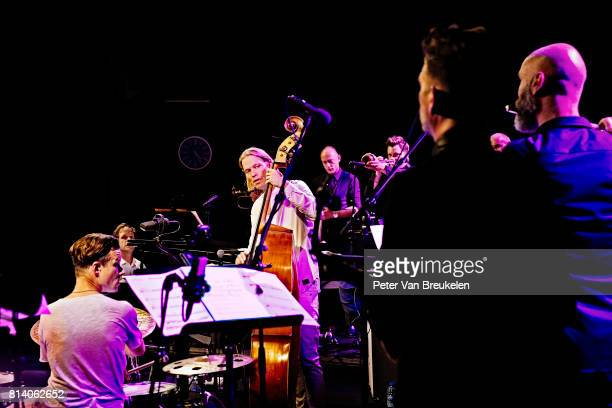 The band Phronesis Performs with the New Rotterdam Jazz Orchestra at North Sea Jazz Festival on July 9th 2017 in Rotterdam The Netherlands
