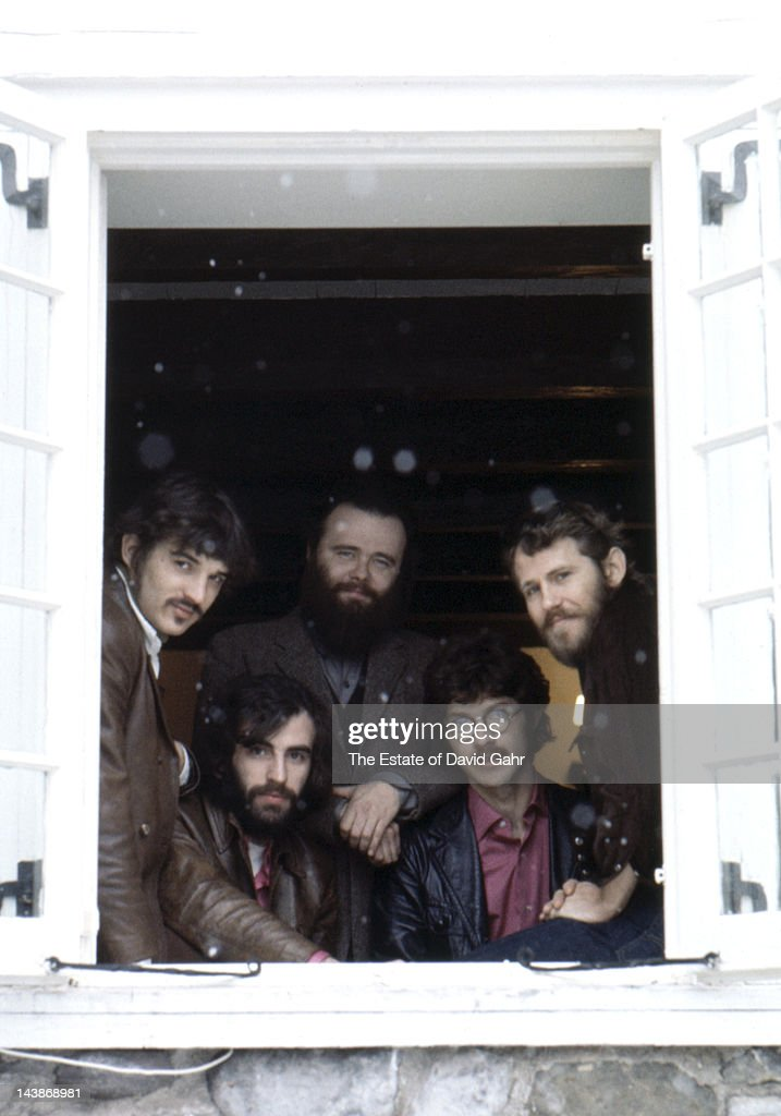The Band pose for a portrait in December 1969 in Woodstock New York
