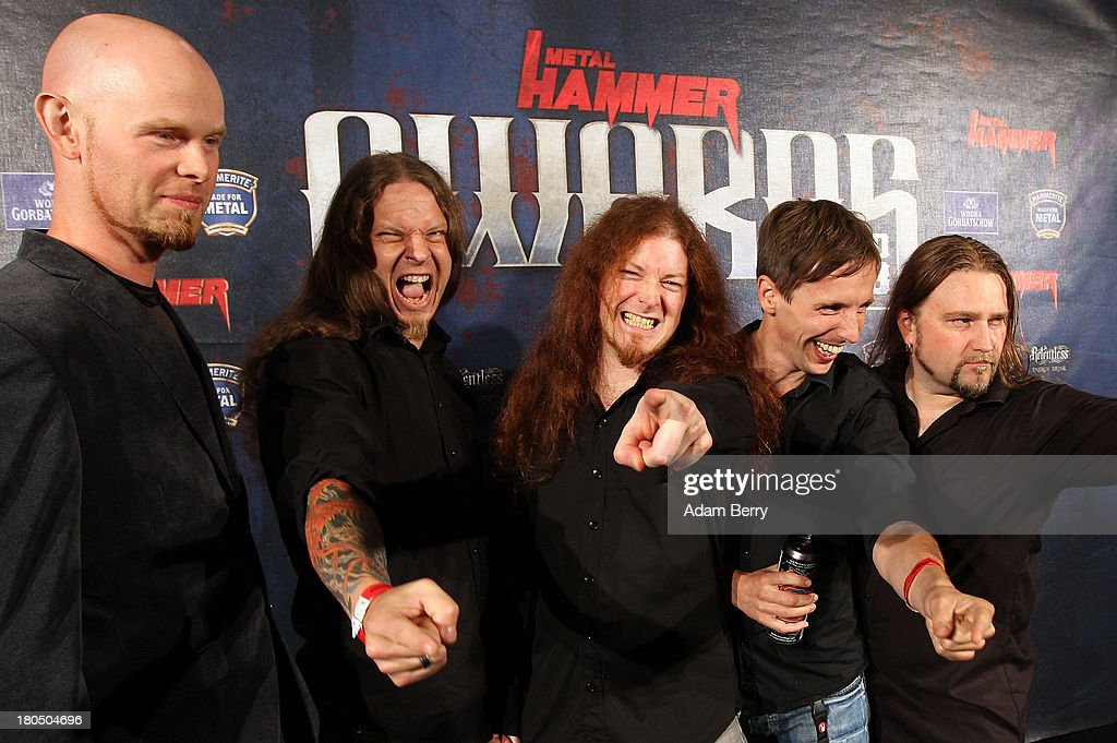 The band Powerwolf arrives for the fifth Metal Hammer Awards at Kesselhaus on September 13, 2013 in Berlin, Germany. The annual prizes are given by Metal Hammer, a German music magazine specialized in Heavy Metal and Hard Rock.