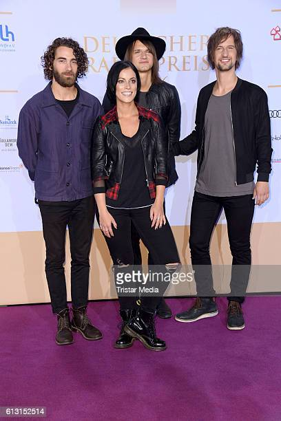 The band Silbermond attend the Deutscher Radiopreis 2016 on October 6 2016 in Hamburg Germany
