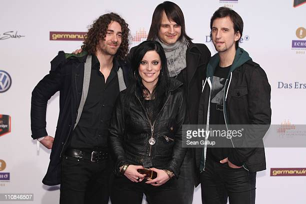 The band Silbermond attend the Echo Awards 2011 at Palais am Funkturm on March 24 2011 in Berlin Germany