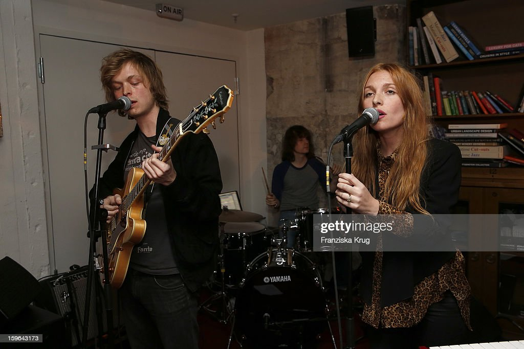 The band Singtank performs at the 'Laurel After Show Party - Mercedes-Benz Fashion Week Autumn/Winter 2013/14' at Soho House on January 17, 2013 in Berlin, Germany.