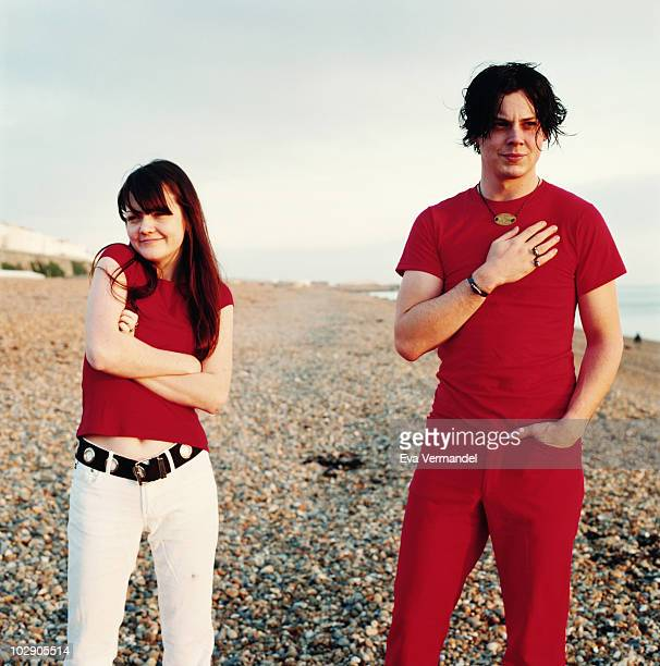 The band The White Stripes poses for a portrait shoot in London UK