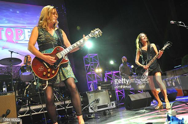 The Bangles perform at Hard Rock's Pinktober at Indigo at O2 Arena on October 5 2010 in London England