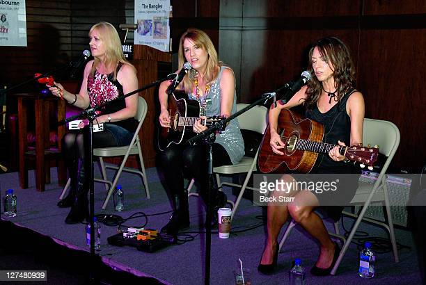 The Bangles perform instore at Barnes Noble bookstore at The Grove on September 27 2011 in Los Angeles California