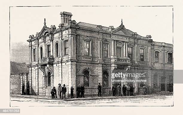The Bank Of Africa Johannesburg As It Is In 1890 South Africa Engraving 1890
