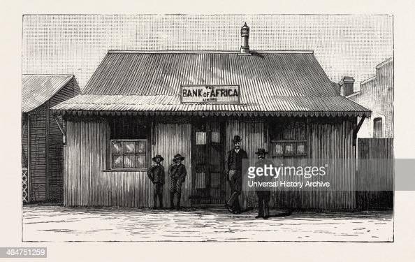 The Bank Of Africa Johannesburg As It Was In 1887 South Africa Engraving 1890