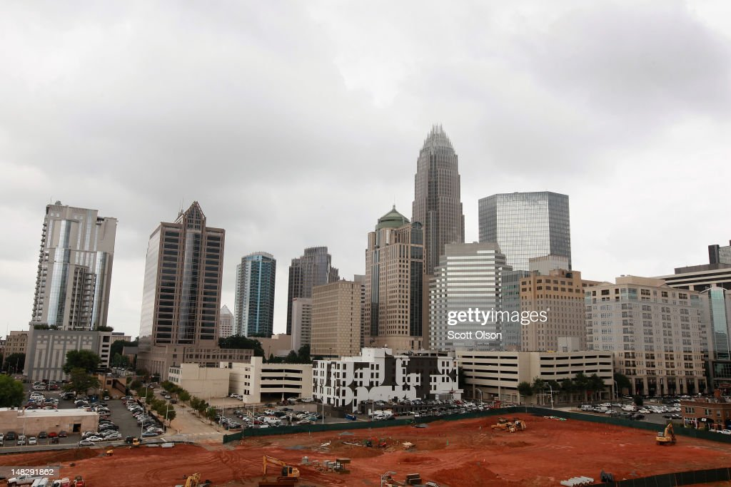 The Bank of America Corporate Center building, which houses the corporate headquarters for Bank of America, rises above the Charlotte skyline on July 11, 2012 in Charlotte, North Carolina. Charlotte is the second largest financial center by assets in the United States behind New York City. Businesses and attractions in Charlotte are anticipating a boost in visitors when the city hosts the 2012 Democratic National Convention (DNC) September 3-6.