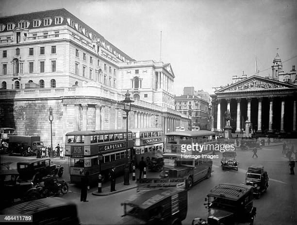 The Bank of England City of London c1930s from the south west with the Royal Exchange visible in the distance The first bank was built on the present...