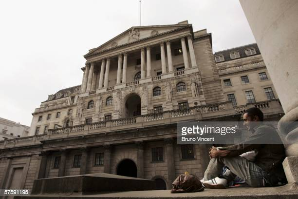 The Bank of England is shown May 12 2006 in London FTSE 100 Index closed deep in the red today losing 1299 pointsthe worst session of the year for...