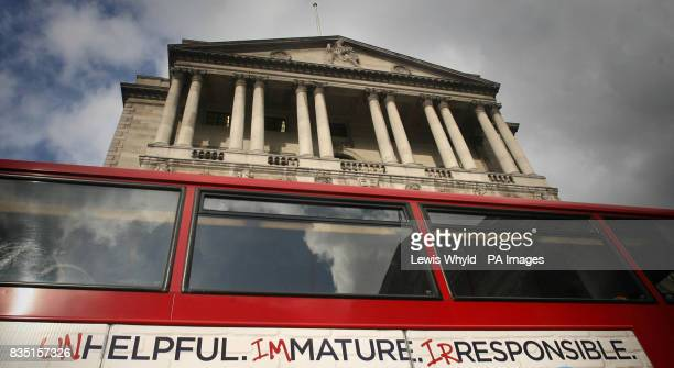 The Bank of England on the day the decision is made on the level of interest rates