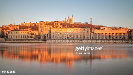 The bank of the Saone river in Lyon