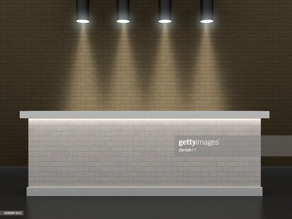 The bar made of brick 2 : Stock Photo