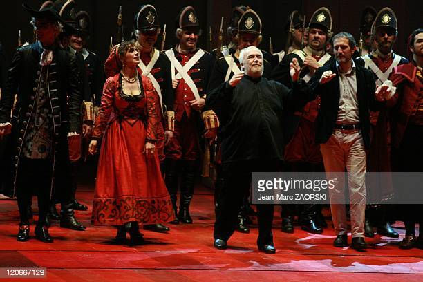The Barber of Seville by Gioachino Rossini in Toulouse France on March 15 2011 Gianluigi Gelmetti musical director with Maite Beaumont at the end of...