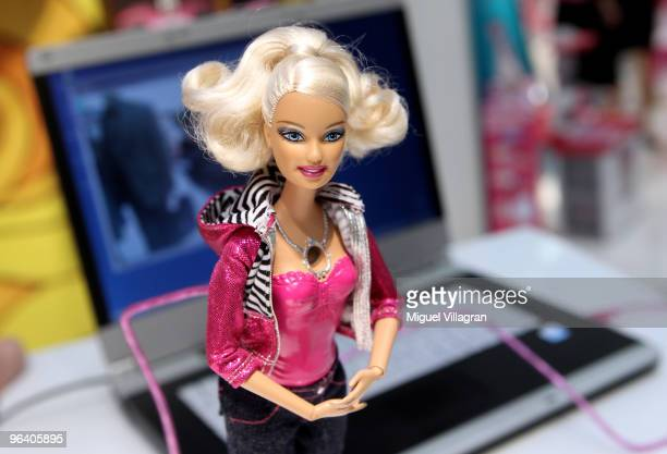 The Barbie video doll is pictured during the International Toy Fair on February 4 2010 in Nuremberg Germany 2700 exhibitors from over 60 countries...