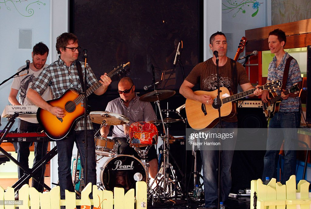 The Barenaked Ladies perform 'Snacktime' at the Treehouse Social Club to benefit Baby2baybyorg on June 10 2008 in Los Angeles California