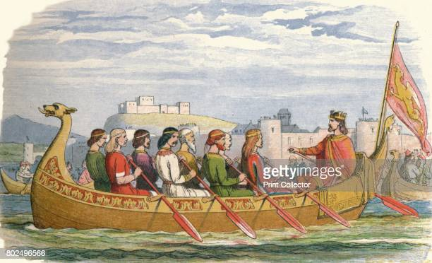 The barge of Edgar manned by eight kings on the Dee' 1864 Edgar I known as Edgar the Peaceful or the Peaceable was King of England from 959 to 975...