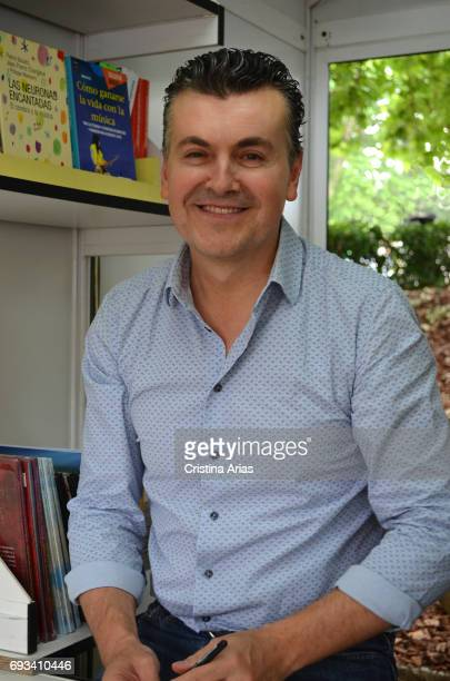 The baritone pianist and popularizer Ramon Gener attends to the Book Fair 2017 at El Retiro Park on June 3 2017 in Madrid Spain
