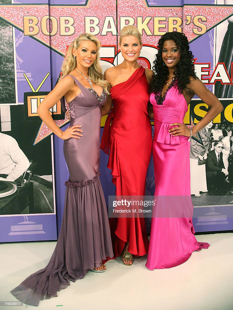 The Barker's Beauties pose during taping of a final primetime special of 'The Price Is Right' at CBS Television City on April 17 2007 in Los Angeles...
