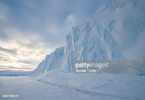 The Barne Glacier on Ross Island in the McMurdo Sound region of the Ross Sea, Antarctica.