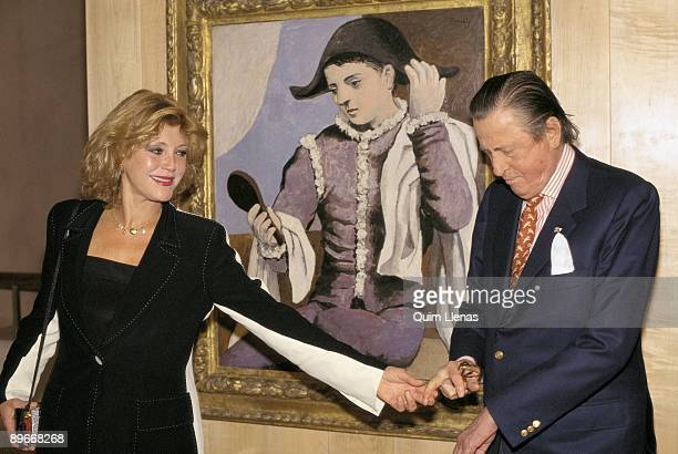 The Baron and the Baroness Thyssen inaugurate an exhibition of Picasso in the museum Thyssen