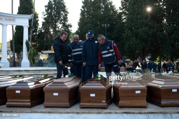 The bars of the migrant women in the Monumental Cemetery of Salerno where some municipal workers while laying a rose on November 17 2017 in Salerno...