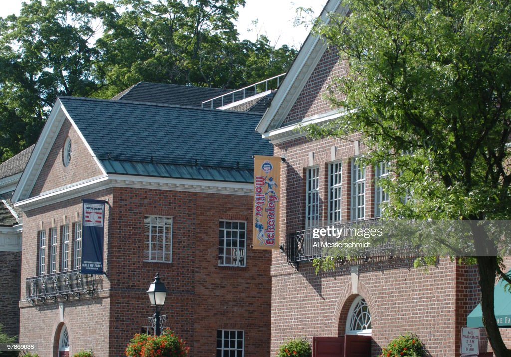 The Baseball Hall of Fame hosts induction ceremonies July 24 2004 in Cooperstown New York