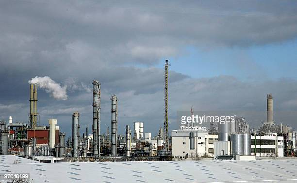 The BASF plant stands in Ludwigshafen Germany on Thursday Feb 25 2010 BASF SE the world's biggest chemical company made a smallerthanexpected cut to...