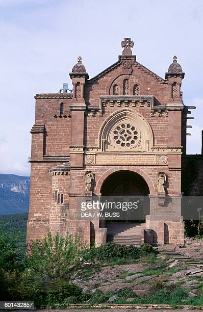 The basilica 19th century attached to the Castle of Xavier birthplace of St Francis Xavier Javier Navarra Spain 10th19th century