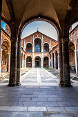 The Basilica of Sant'Ambrogio, one of the most ancient churches in Milan, Italy