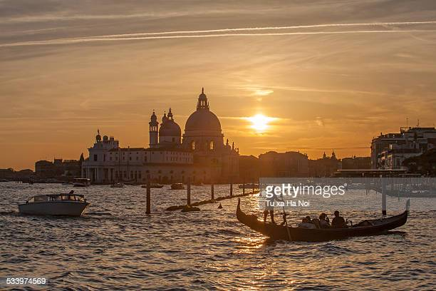 The Basin of San Marco in sunset