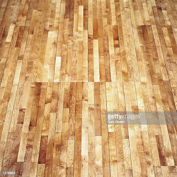 The Basketball court floor at the Bradley Center photographed on October 1 1999 in Milwaukee Wisconsin NOTE TO USER User expressly acknowledges and...
