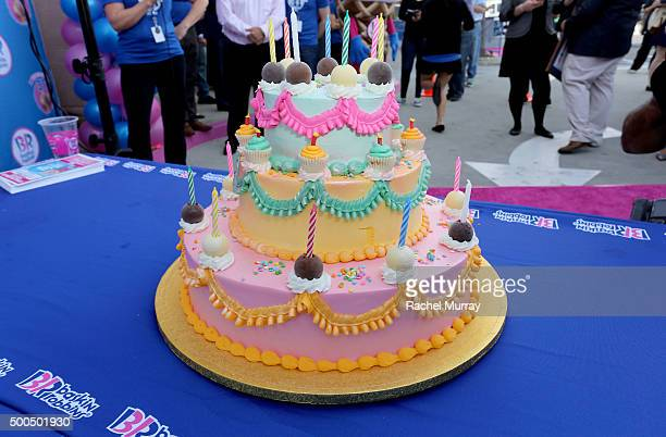 The BaskinRobbins ice cream cake to be presented and enjoyed by guests after the cake cutting ceremony during the BaskinRobbins 70th birthday...