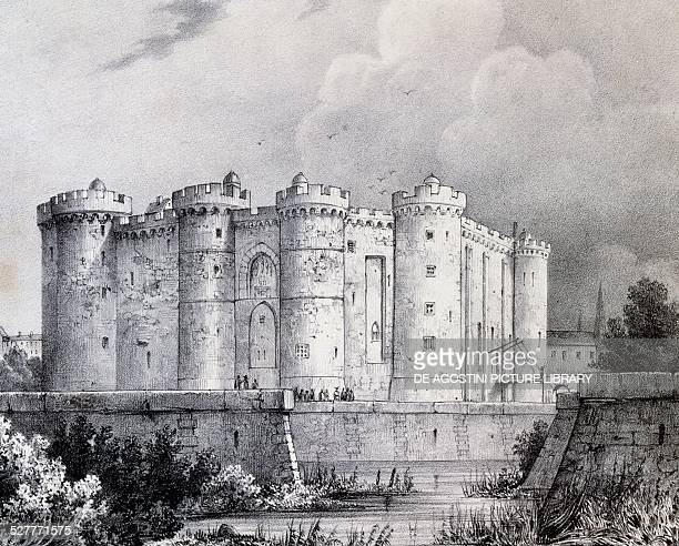 The Bastille in 1700 engraving France 18th century