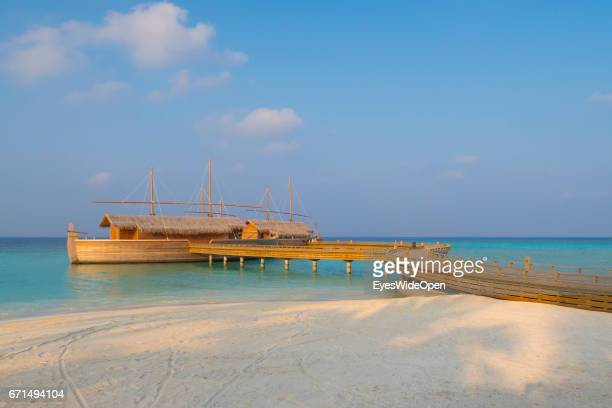 The Batheli Restaurant in the Shape of traditional Boats at Lifestyle Resort Milaidhoo Island BaaAtoll on February 23 2017 in Male Maldives