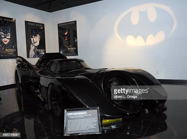 The Batmobile at the 'Batman 66 Meets The Green Hornet' Comic Book Kickoff Fatman On Batman Live Podcast With Kevin Smith And Ralph Garman held at...