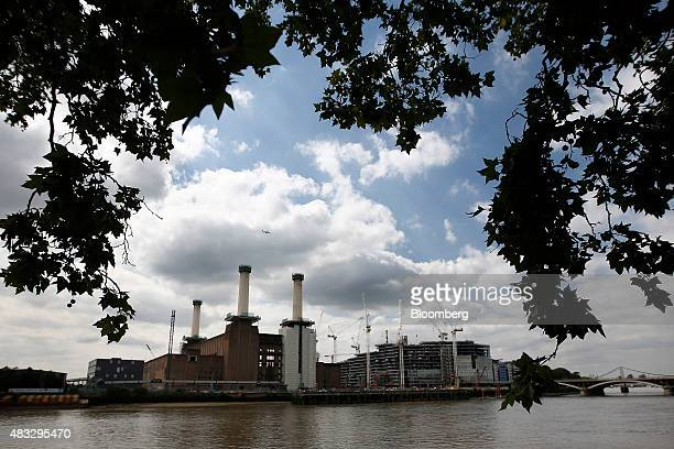 The Battersea power station residential and retail development stands on the bank of the River Thames in London UK on Friday Aug 7 2015 Demand for...