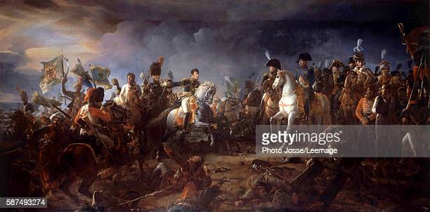 The battle of Austerlitz 2 December 1805 The General Rapp presenting the flags taken to the enemy Painting by Francois Gerard 1805 21 x 958 m Castle...