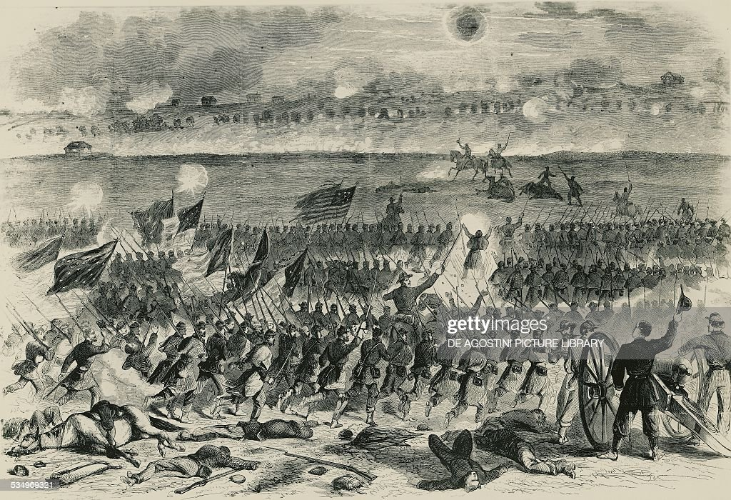 The Battle of Fredericksburg illustration from Harper's Weekly on January 10 1863 American Civil War United States of America 19th century